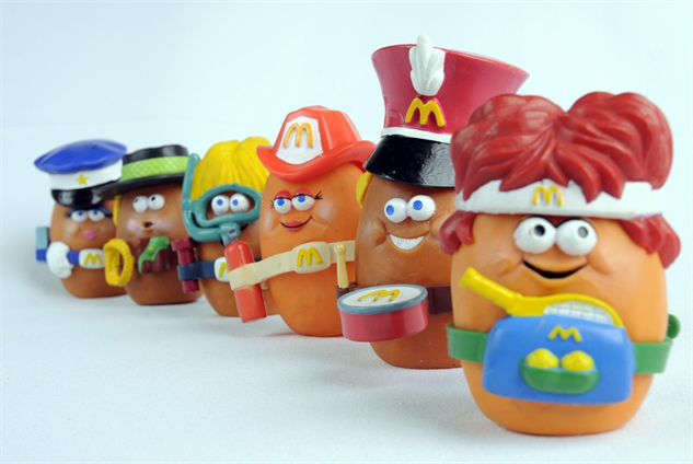 Fast Food Toys : Old school fast food toys that look like