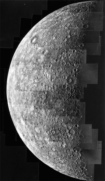 first-pictures-of-planets mercury-mariner-10