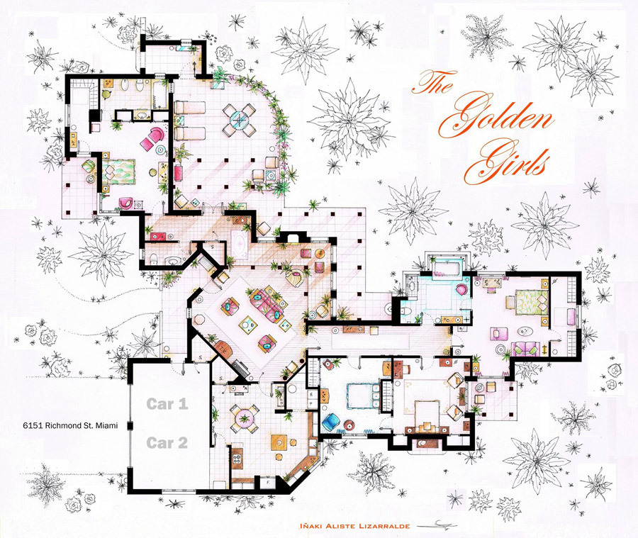 Artist sketches the floor plans of popular tv homes design galleries paste House plan sketch design