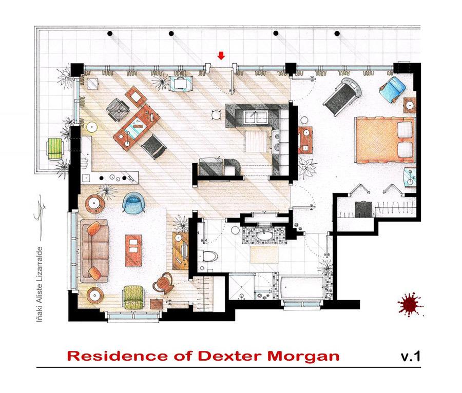 Artist Sketches the Floor Plans of Popular TV Homes. Artist Sketches the Floor Plans of Popular TV Homes    Design