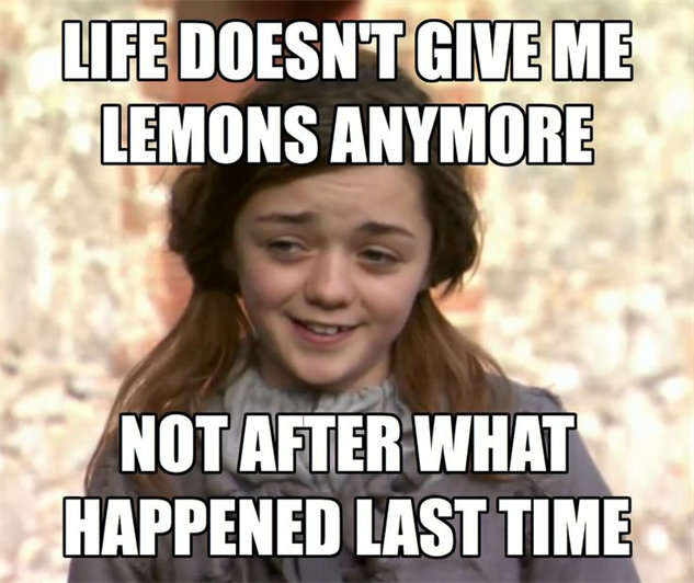 5 memes got arya lemons?1384968217 the 30 best game of thrones memes tv galleries paste