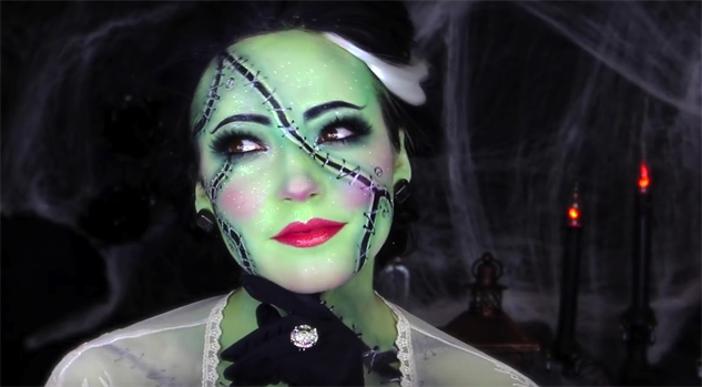 halloween youtube makeup bride
