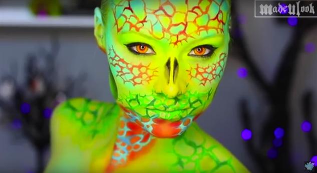 halloween-youtube-makeup lizard