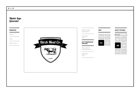 Generate Your Very Own Hipster Logo with this Website :: Design ...