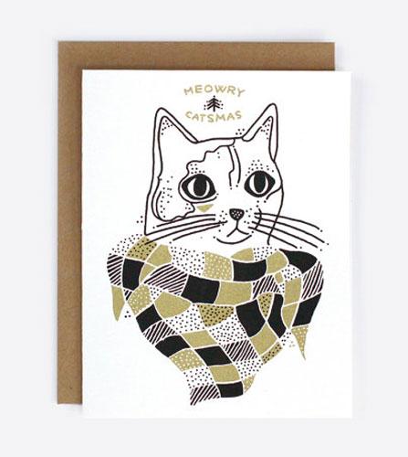 holidaycardz meowrycatsmas