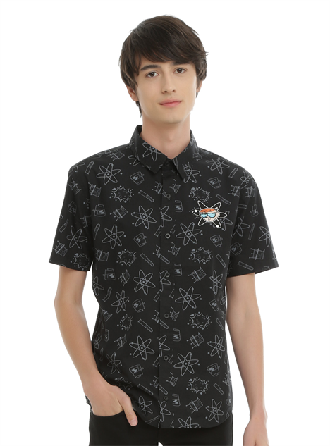hot-topic-cn-clothes dexters-lab-button-down