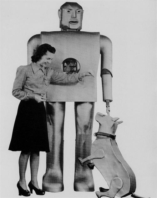 humanoid-robots elektro-and-sparko