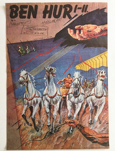 hungarian-movie-posters ben-hur-helenyi-tibor-1982
