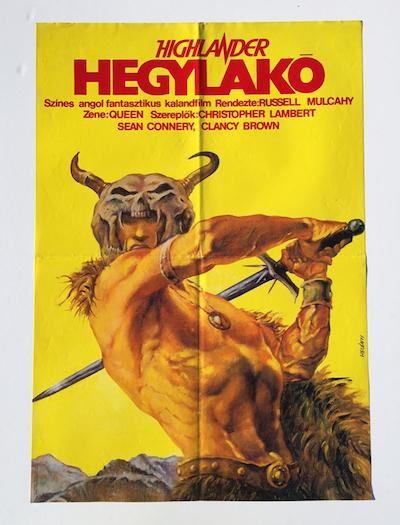 hungarian-movie-posters highlander-1989-helenyi-tibor