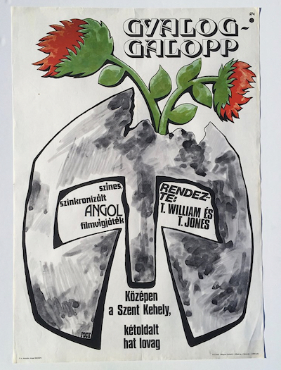 hungarian-movie-posters monty-python-and-the-holy-grail-fock-1977