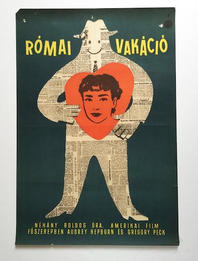 hungarian-movie-posters roman-holiday-kovacs-vilmos-1960s