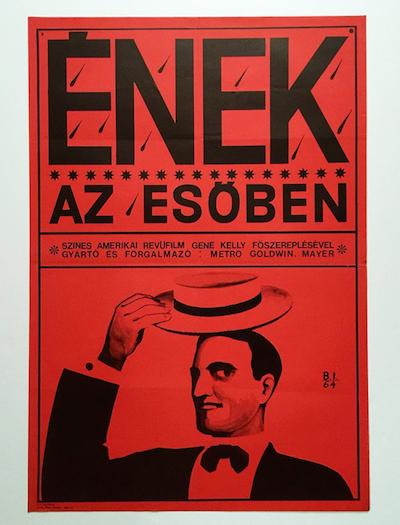 hungarian-movie-posters singin-in-the-rain-balogh-istvan-1964