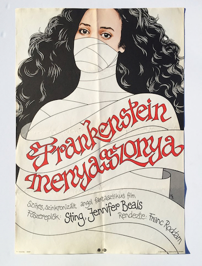 hungarian-movie-posters the-bride-of-frankenstein-1987-signed-mj