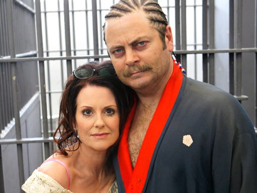iconic-sitcom-moments megan-mullally-and-nick-offerman