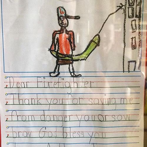 kid drawings kids drawings firefighter1 - Kids Drawings Images