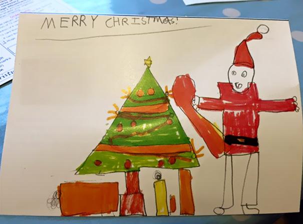 source kid drawings kids drawings santa 2 - Pictures Of Drawings For Kids