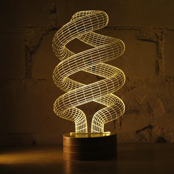 Bulbing Optical Illusion Led Lamp Kickstarter Design