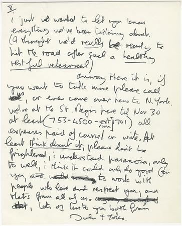 the john lennon letters lennon s handwritten letter to eric clapton up for 13891 | photo 6006 1
