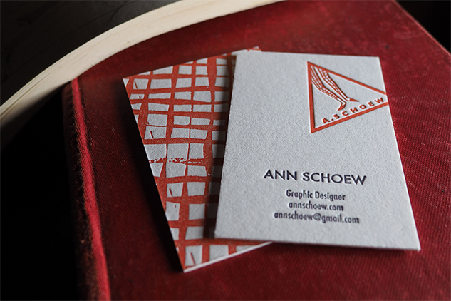 letterpress-business-cards ann-schoew
