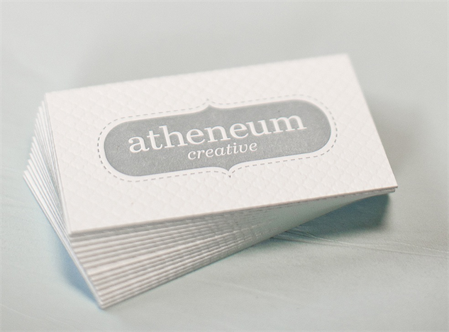 letterpress-business-cards atheneum