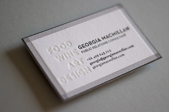 Oleg Lyutov Design · Letterpress Business Cards Hungry Workshop Black White  Letterpress Business