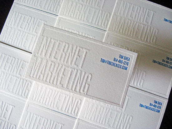 letterpress-business-cards white-knockout-text-business-card-dolce-press