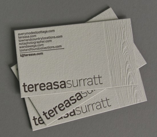 Show Your Depth  Letterpress Business Cards  Design