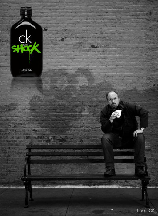 tumblr imagines louis c k as spokesman for ck one cologne. Black Bedroom Furniture Sets. Home Design Ideas