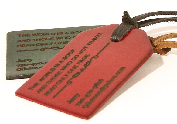 luggage-tags 8colorleatherluggagetag