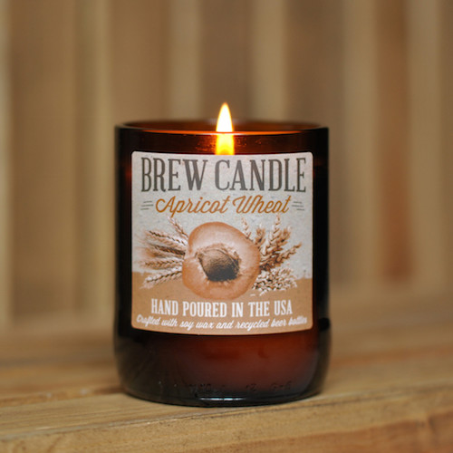 made-from-beer swag-candle