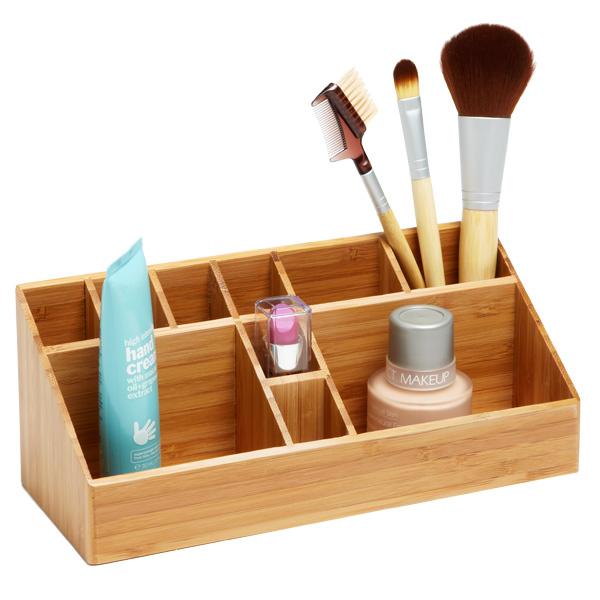 makeup-countertop-storage bamboo