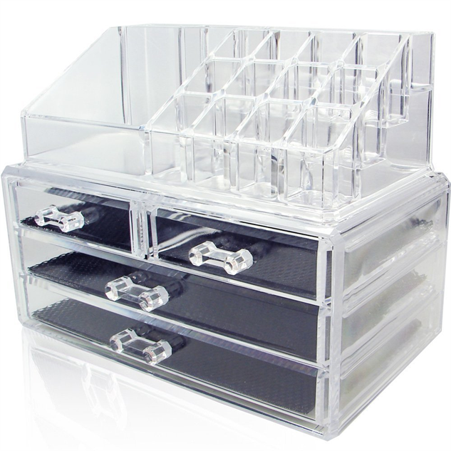 makeup-countertop-storage clear
