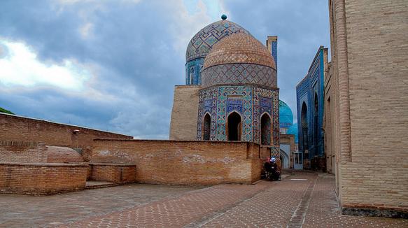 mausoleums shah-i-zinda-uzbekistan