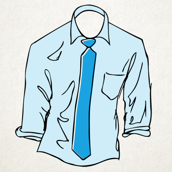 mens-shirts-ties shirts-isolated