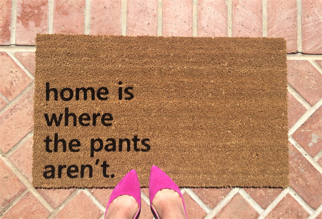 message-doormats pants