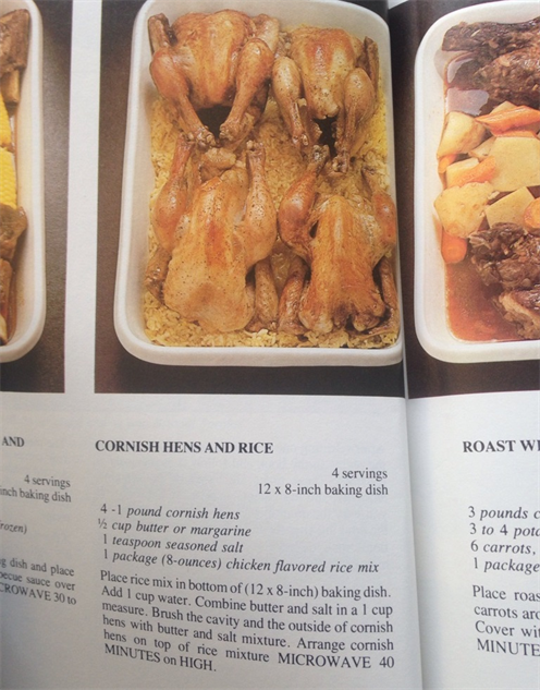 microwave-cookbook cornish-hens