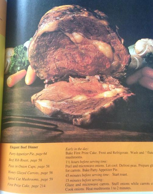 Microwave Cookbook Elegant Beef Dinner