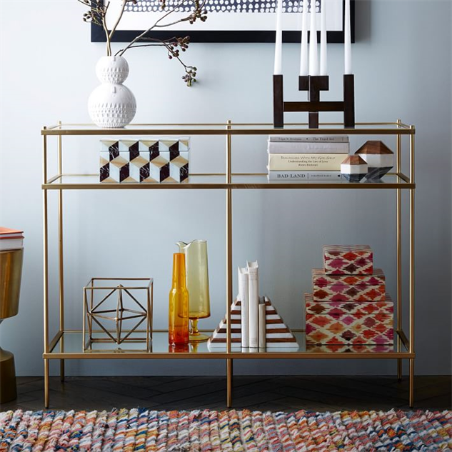 mirrored home goods console. Mirrored Home Goods that Look Tres Chic    Design    Galleries