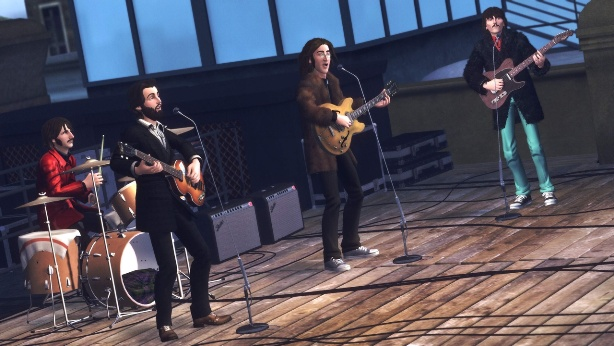 musicians-in-videogames beatles-rock-band-roof-top