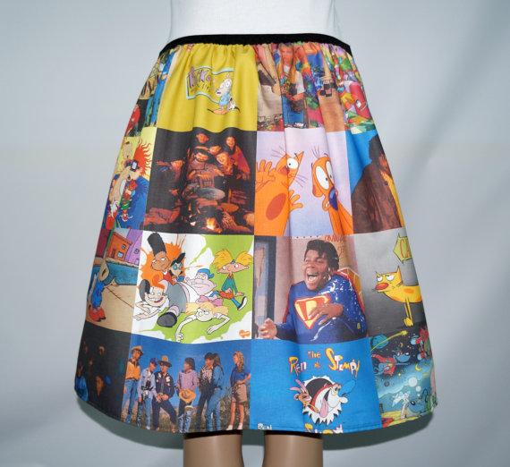 nickelodeon-etsy-finds 90s-nick-skirt-by-nerdalertcreations