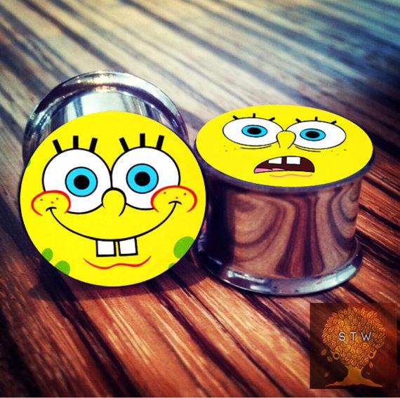 nickelodeon-etsy-finds og-spongebob-plugs-by-stretchtheworld