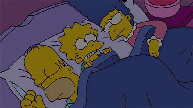 non-classic-simpsons the-girl-slept