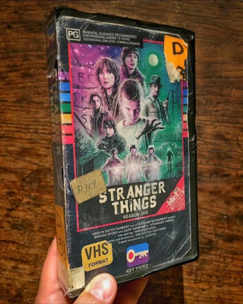 nostalgic-vhs-art stranger-things