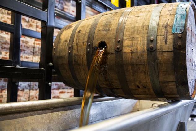 old-forester-distillery barrel-dump