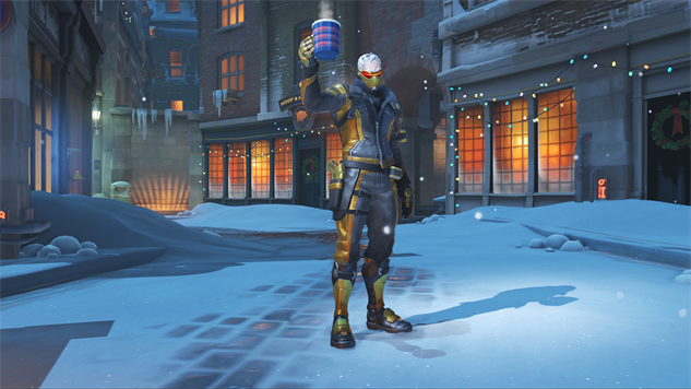Tracer Christmas Skin.The Character Skins Of Overwatch S Winter Wonderland Event