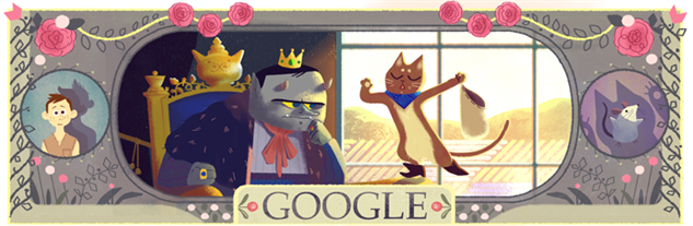 perrault-google-doodles 1pussinbootsdoodle