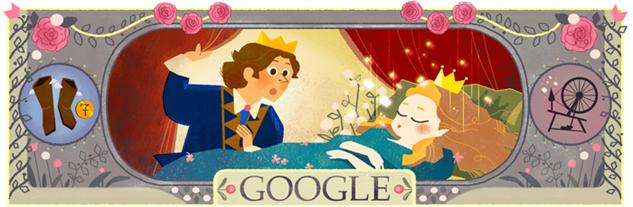 perrault-google-doodles 1sleepingbeautydoodle