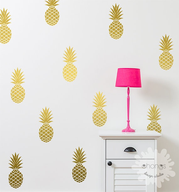 Pineapple Accessories pineapple-theme home accessories for tropical appeal :: design
