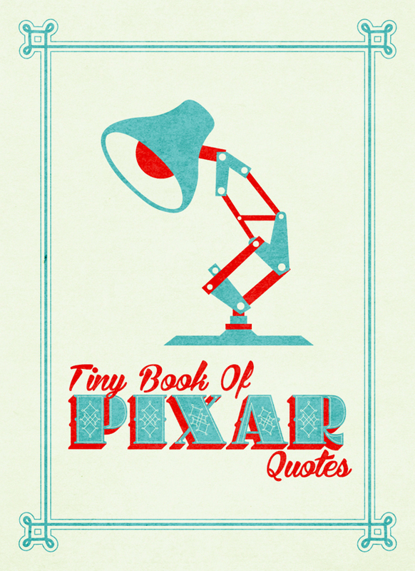 Typographic Book Cover Quotes ~ Tiny book of pixar quotes brings nemo up lines to life