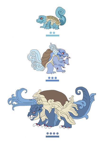pokemayan squirtle-evolution
